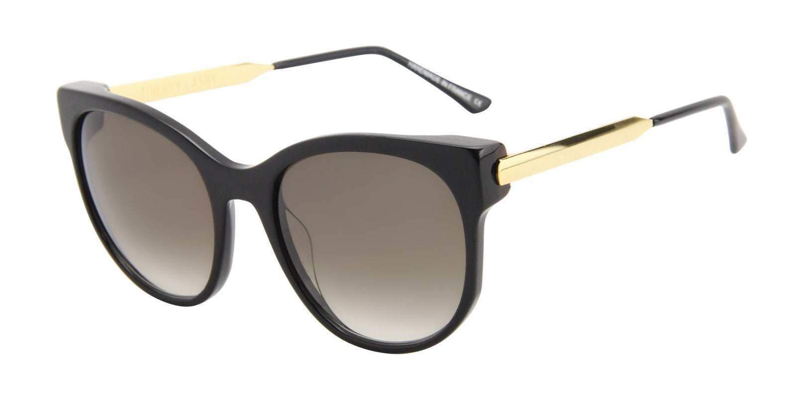 Thierry Lasry - Axxxexxxy Black Oval Women Sunglasses - 56mm-Sunglasses-Designer Eyes