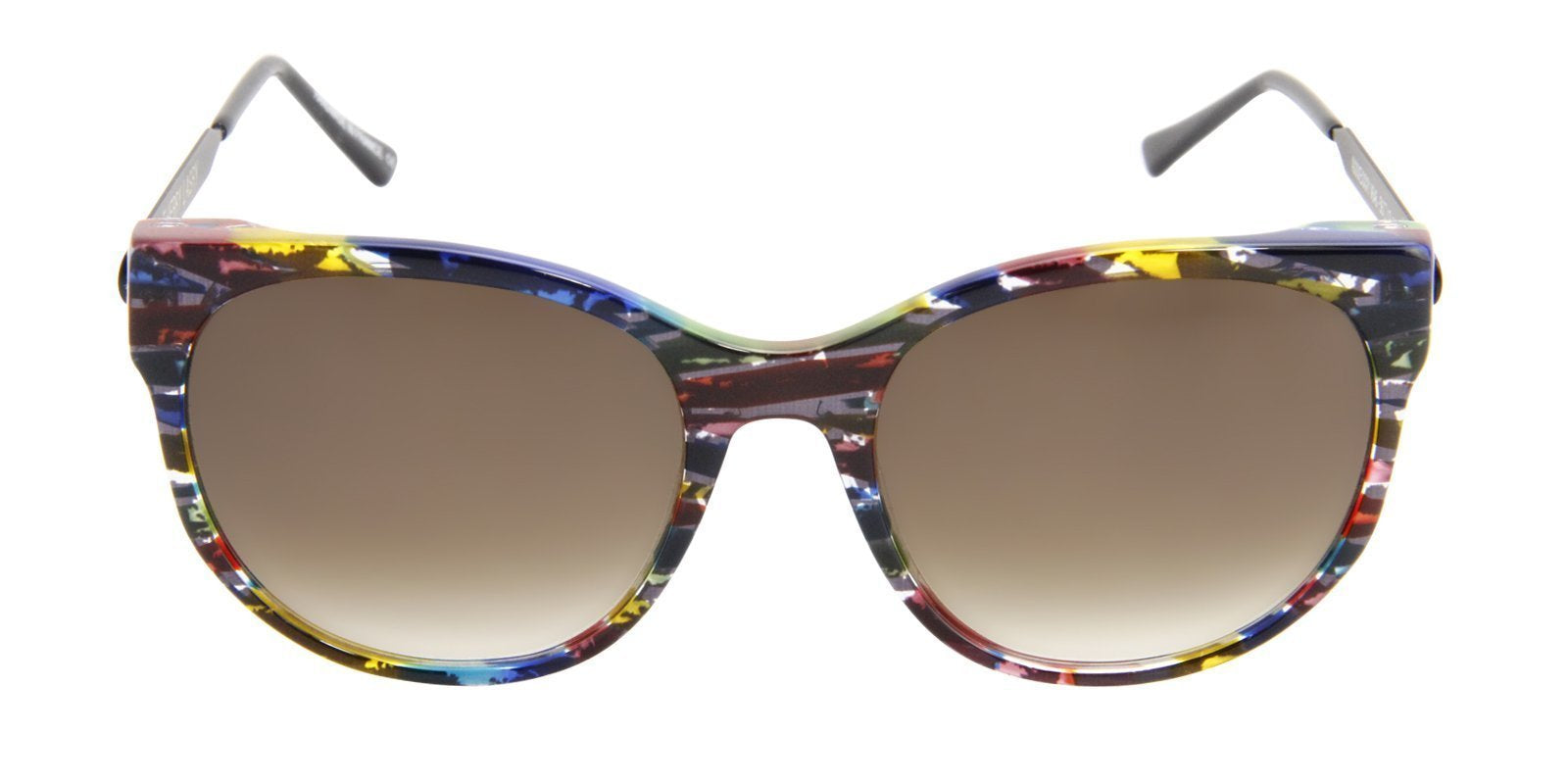 Thierry Lasry - Axxxexxxy Blue/Red/Green Oval Women Sunglasses - 56mm-Sunglasses-Designer Eyes