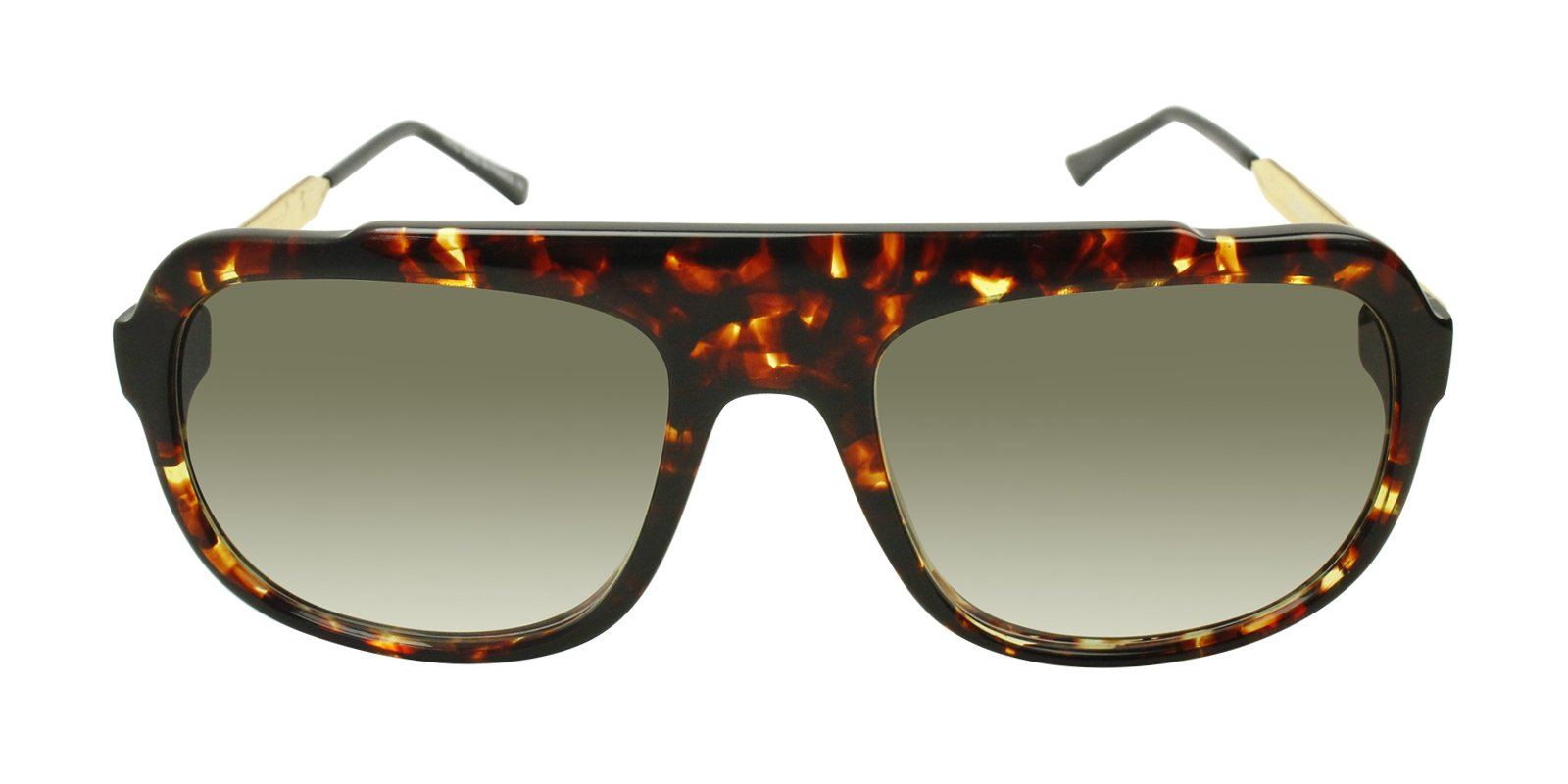 Thierry Lasry - Bowery Tortoise Rectangular Men, Women Sunglasses - 56mm-Sunglasses-Designer Eyes