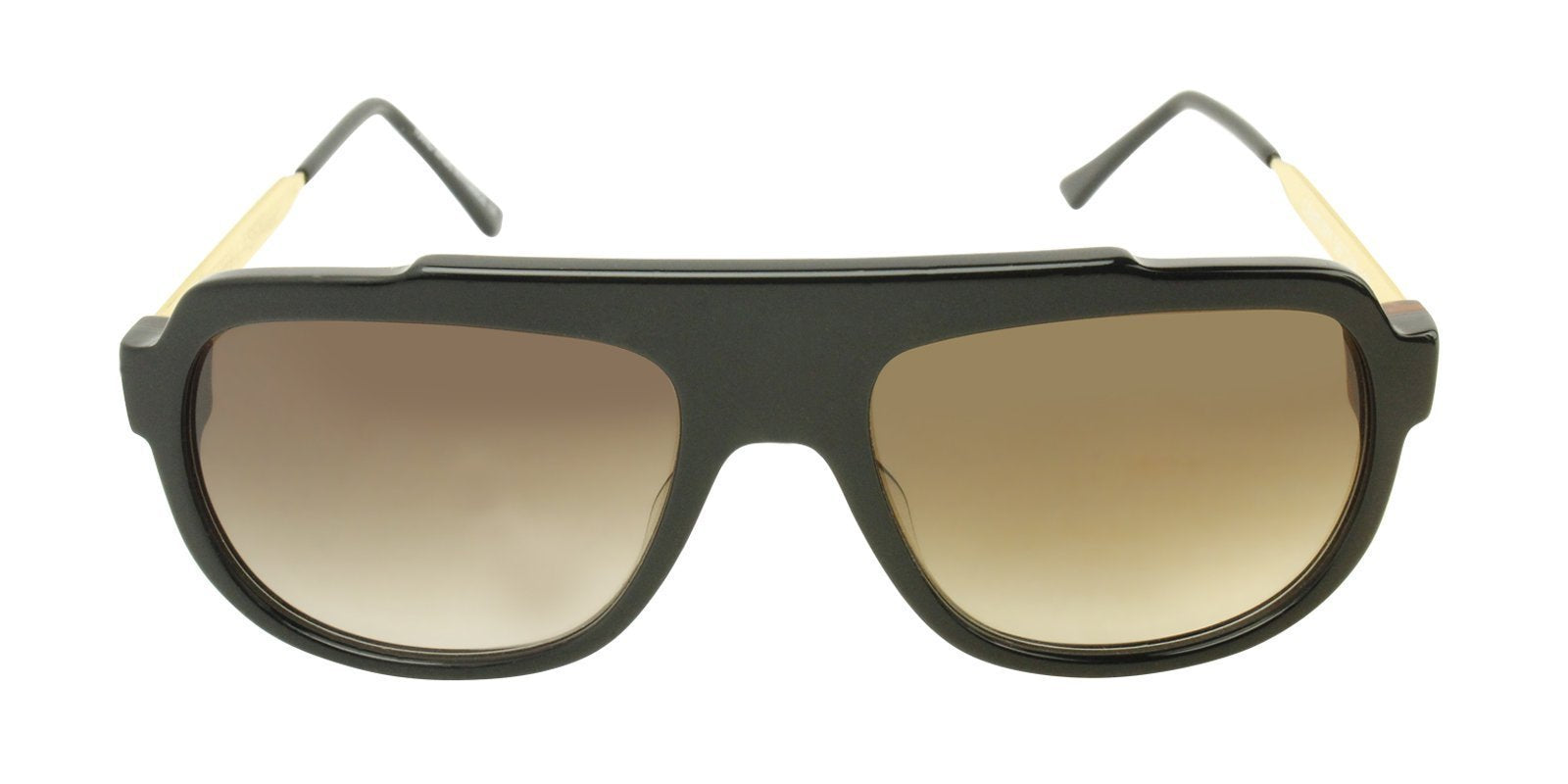 Thierry Lasry - Century Black Rectangular Men, Women Sunglasses - 56mm-Sunglasses-Designer Eyes