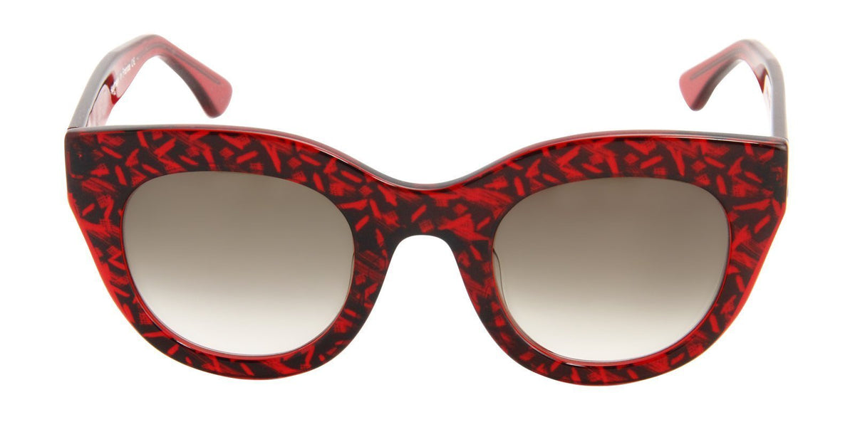 Thierry Lasry - Deeply Red Oval Women Sunglasses - 48mm-Sunglasses-Designer Eyes