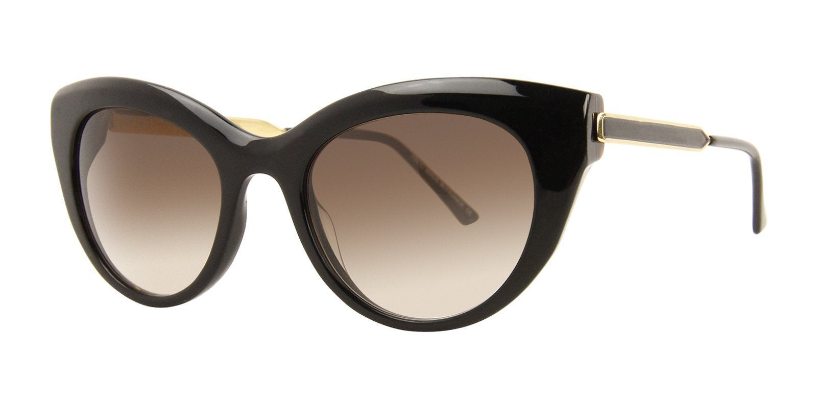 Thierry Lasry - Diamondy Black Cat-Eye Women Sunglasses - 53mm-Sunglasses-Designer Eyes