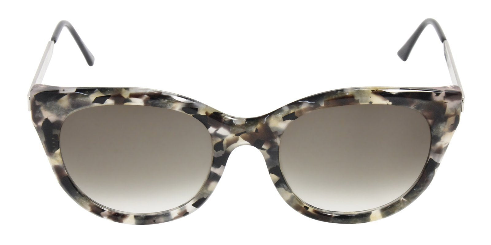 Thierry Lasry - Dirtymindy Gray Oval Women Sunglasses - 56mm-Sunglasses-Designer Eyes