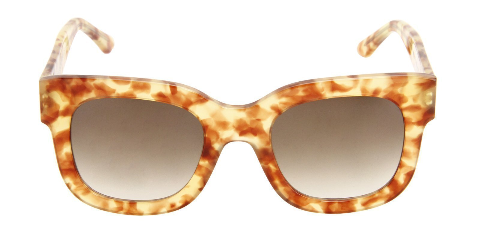 Thierry Lasry - Dominaty Tortoise Rectangular Women Sunglasses - 52mm-Sunglasses-Designer Eyes