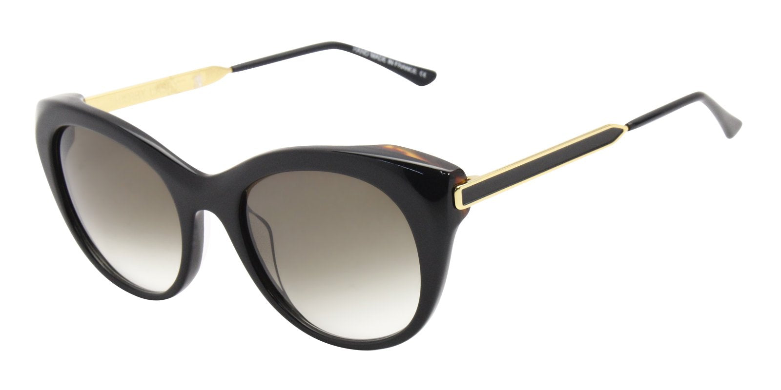 Thierry Lasry - Fingery Black Oval Women Sunglasses - 56mm-Sunglasses-Designer Eyes