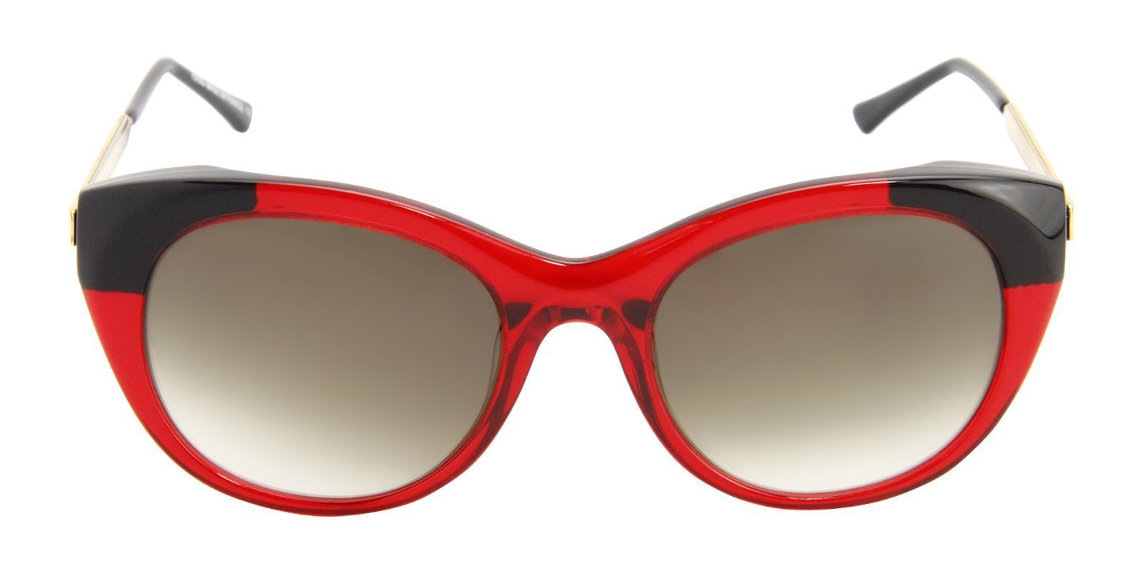 Thierry Lasry - Fingery Red Oval Women Sunglasses - 56mm-Sunglasses-Designer Eyes