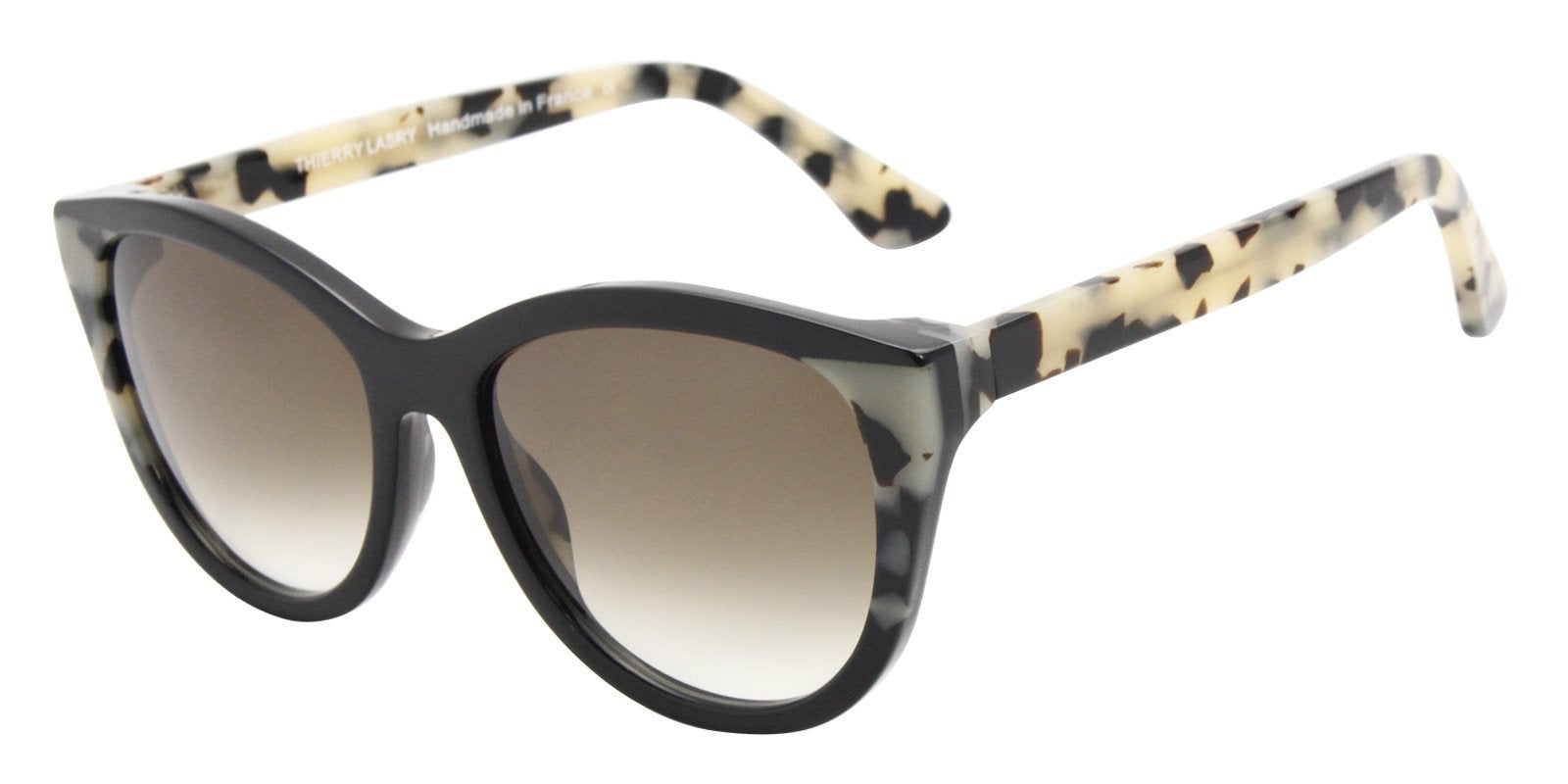 Thierry Lasry - Flattery Black Oval Women Sunglasses - 55mm-Sunglasses-Designer Eyes
