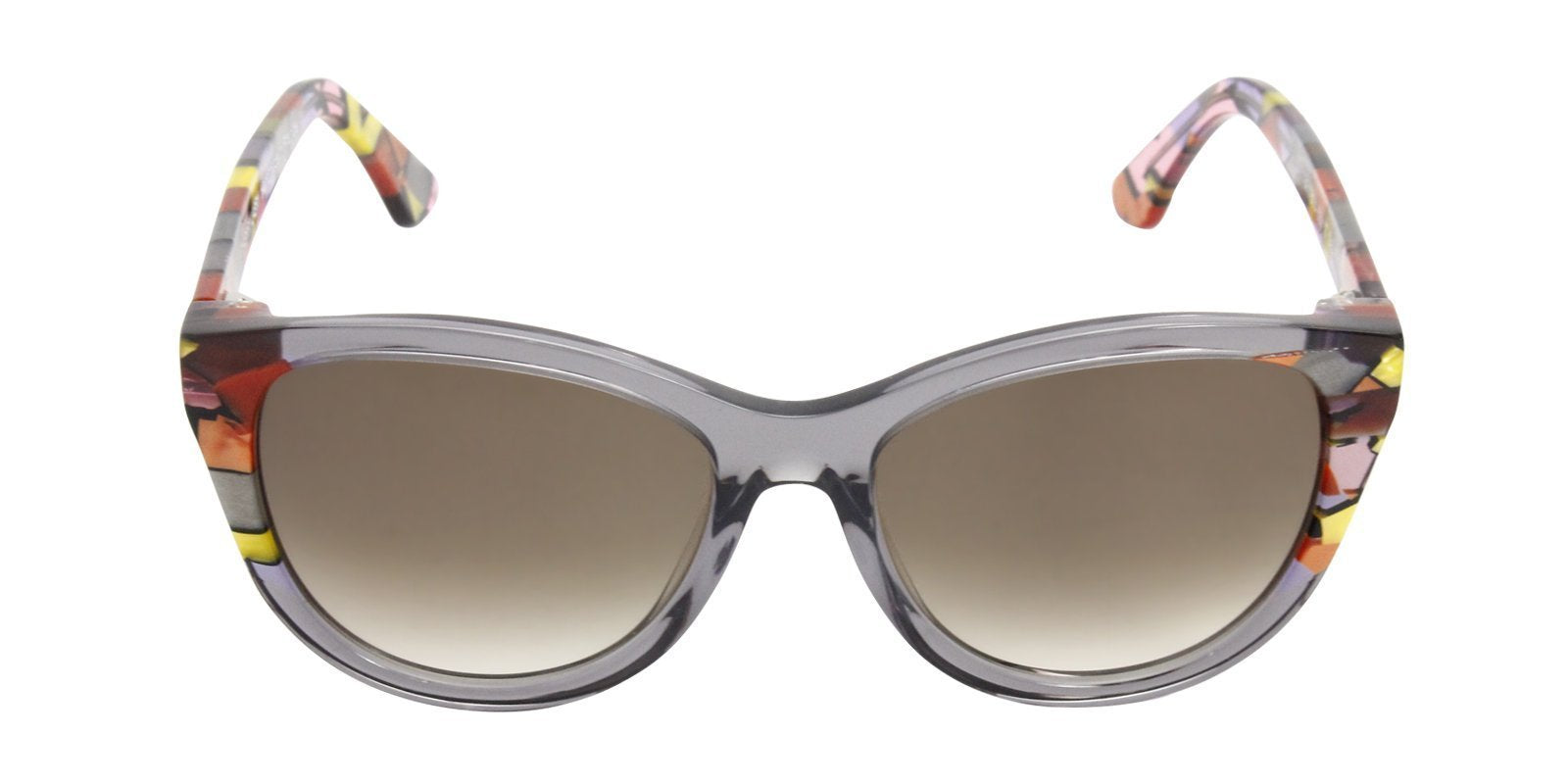 Thierry Lasry - Flattery Gray Oval Women Sunglasses - 55mm-Sunglasses-Designer Eyes