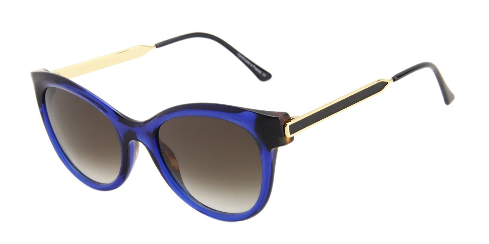 Thierry Lasry - Flirty Blue Oval Women Sunglasses - 53mm-Sunglasses-Designer Eyes
