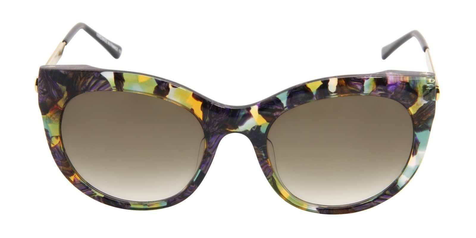 Thierry Lasry - Glitzy Brown Oval Women Sunglasses - 55mm-Sunglasses-Designer Eyes