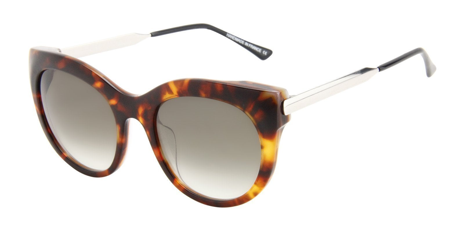 Thierry Lasry - Glitzy Tortoise Oval Women Sunglasses - 55mm-Sunglasses-Designer Eyes