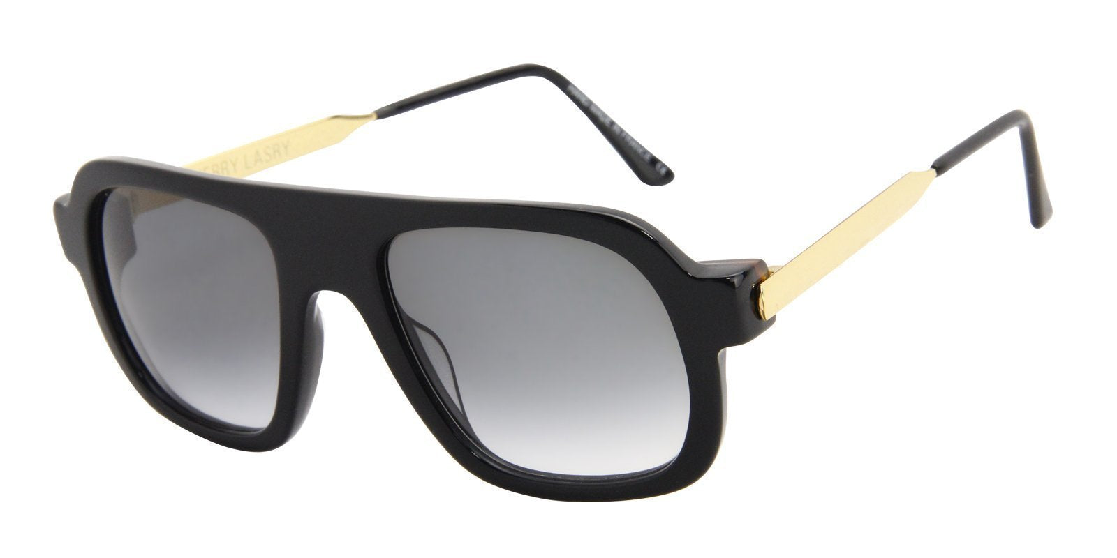 Thierry Lasry - Kurupty Black Rectangular Men, Women Sunglasses - 52mm-Sunglasses-Designer Eyes