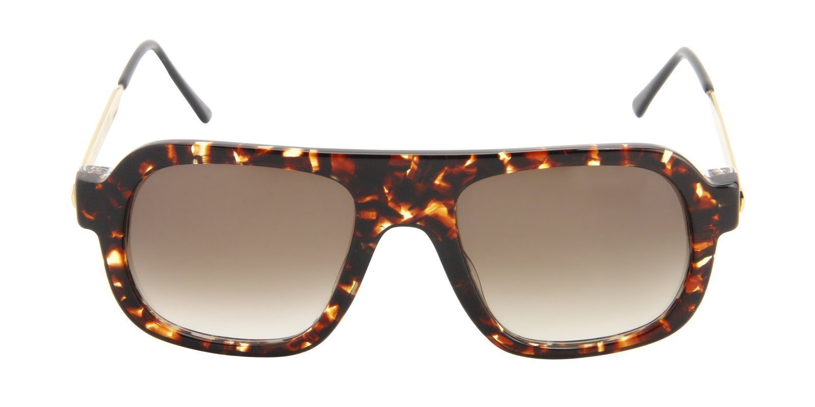 Thierry Lasry - Kurupty Tortoise Rectangular Men, Women Sunglasses - 52mm-Sunglasses-Designer Eyes