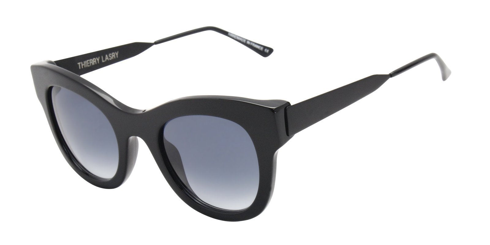 Thierry Lasry - Leggy Black Oval Women Sunglasses - 52mm-Sunglasses-Designer Eyes