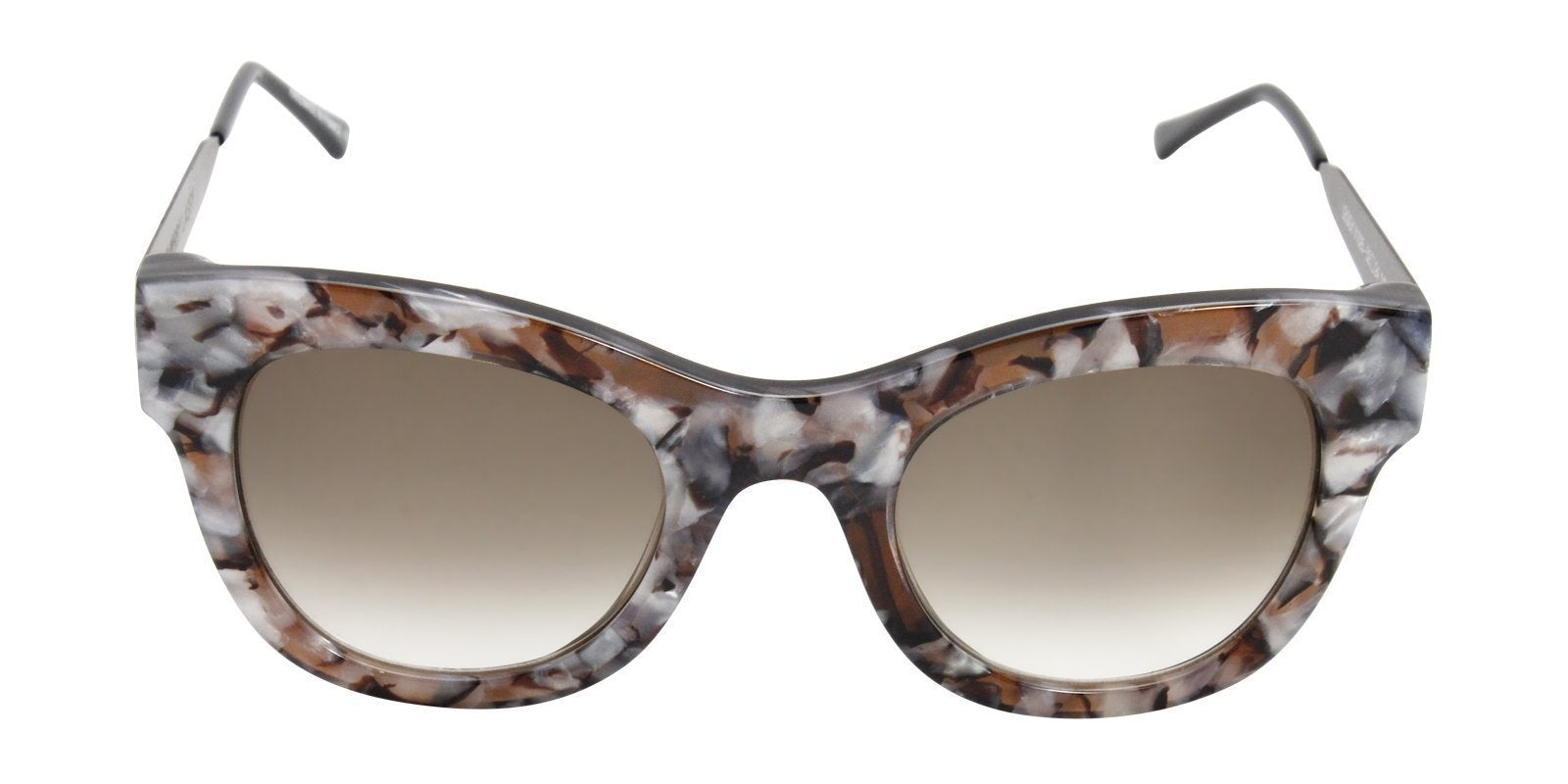 Thierry Lasry - Leggy Brown Oval Women Sunglasses - 52mm-Sunglasses-Designer Eyes