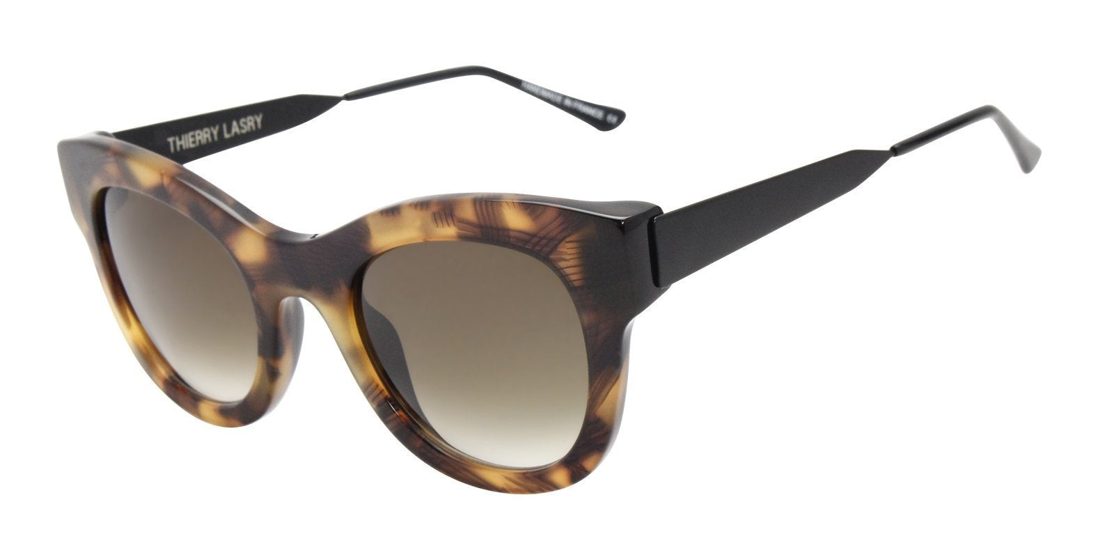 Thierry Lasry - Leggy Tortoise Oval Women Sunglasses - 52mm-Sunglasses-Designer Eyes