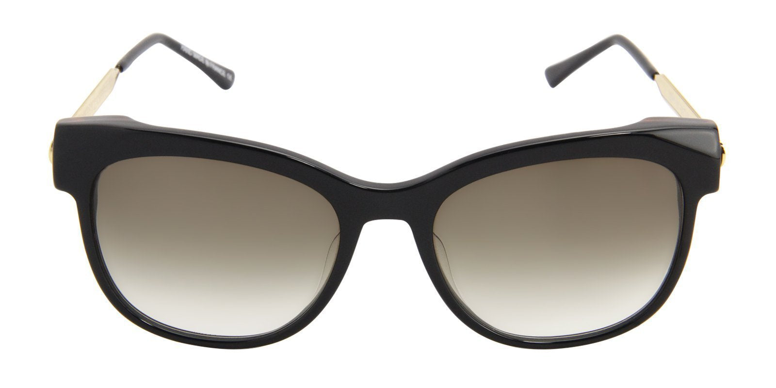 Thierry Lasry - Lippy Black Oval Women Sunglasses - 56mm-Sunglasses-Designer Eyes