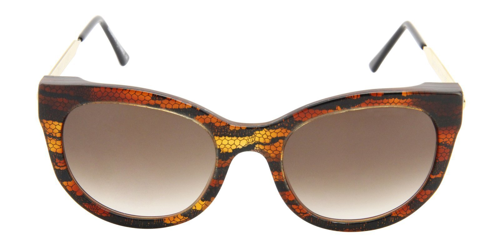 Thierry Lasry - Lively Brown Oval Women Sunglasses - 56mm-Sunglasses-Designer Eyes