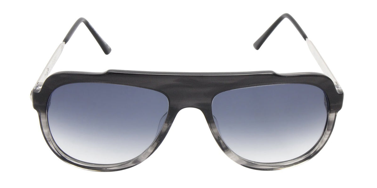 Thierry Lasry - Majesty Black Oval Women Sunglasses - 57mm-Sunglasses-Designer Eyes