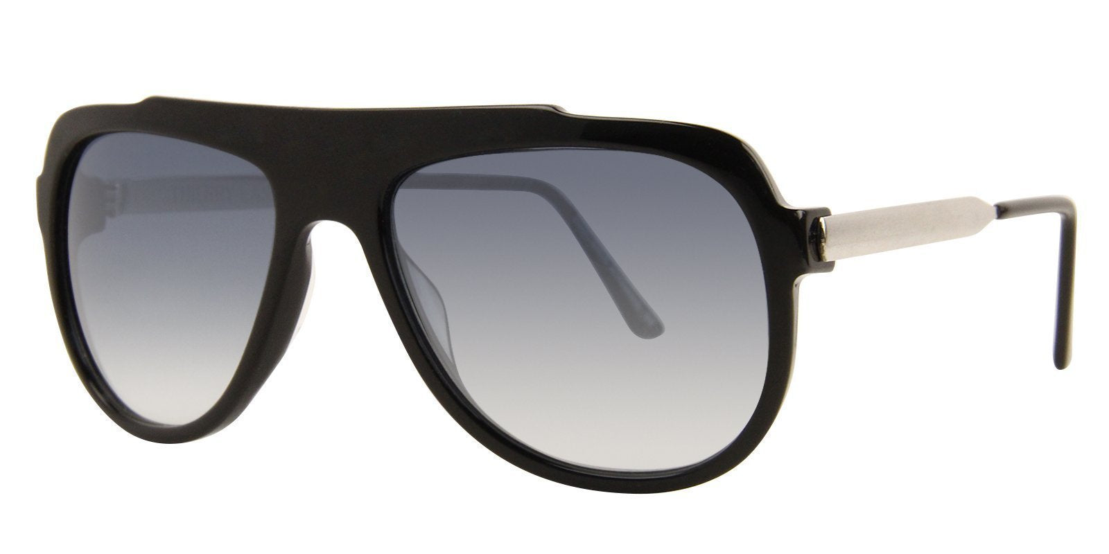Thierry Lasry - Majesty Black Rectangular Men, Women Sunglasses - 57mm-Sunglasses-Designer Eyes