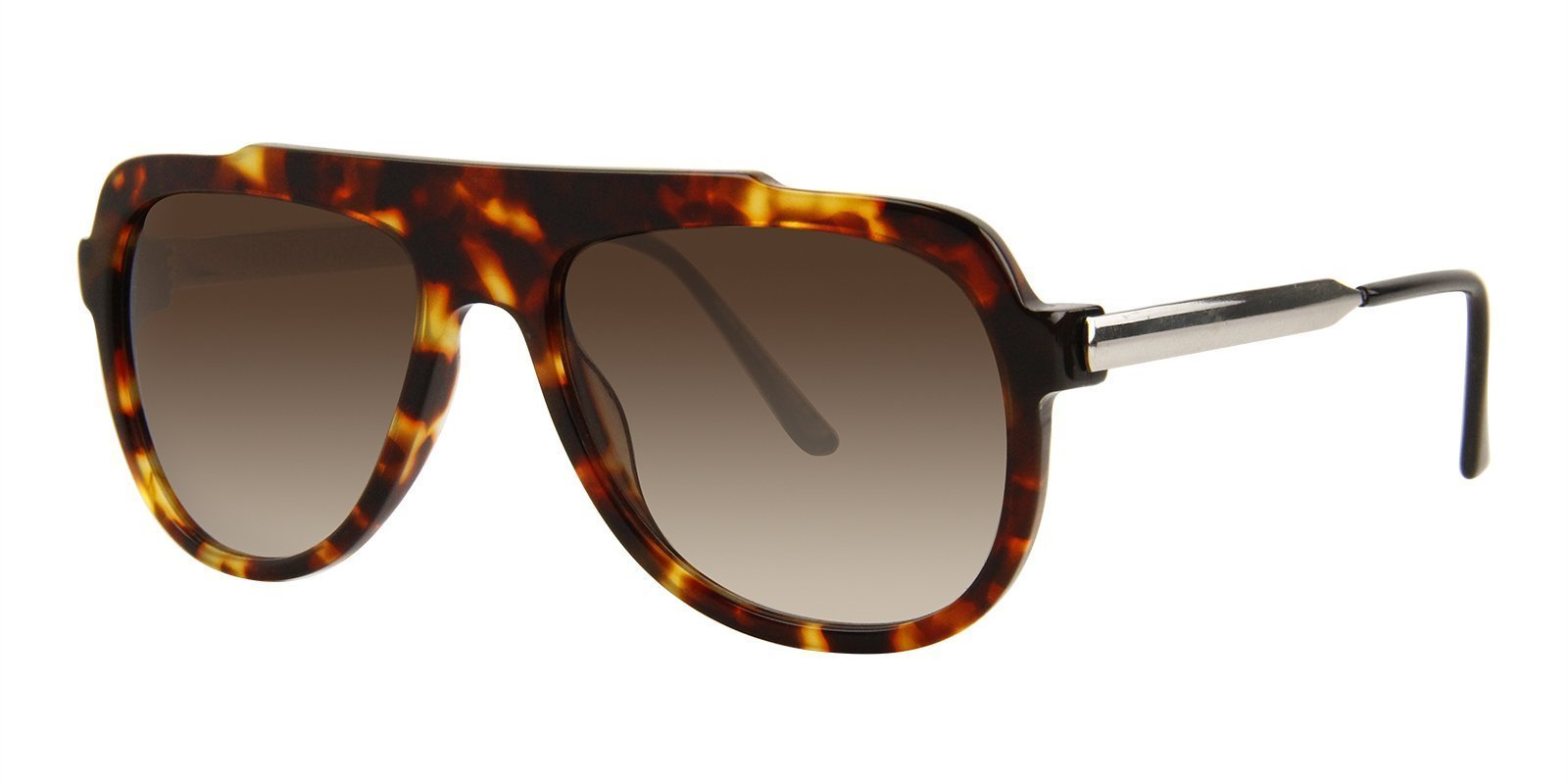 Thierry Lasry - Majesty Tortoise Rectangular Men, Women Sunglasses - 57mm-Sunglasses-Designer Eyes