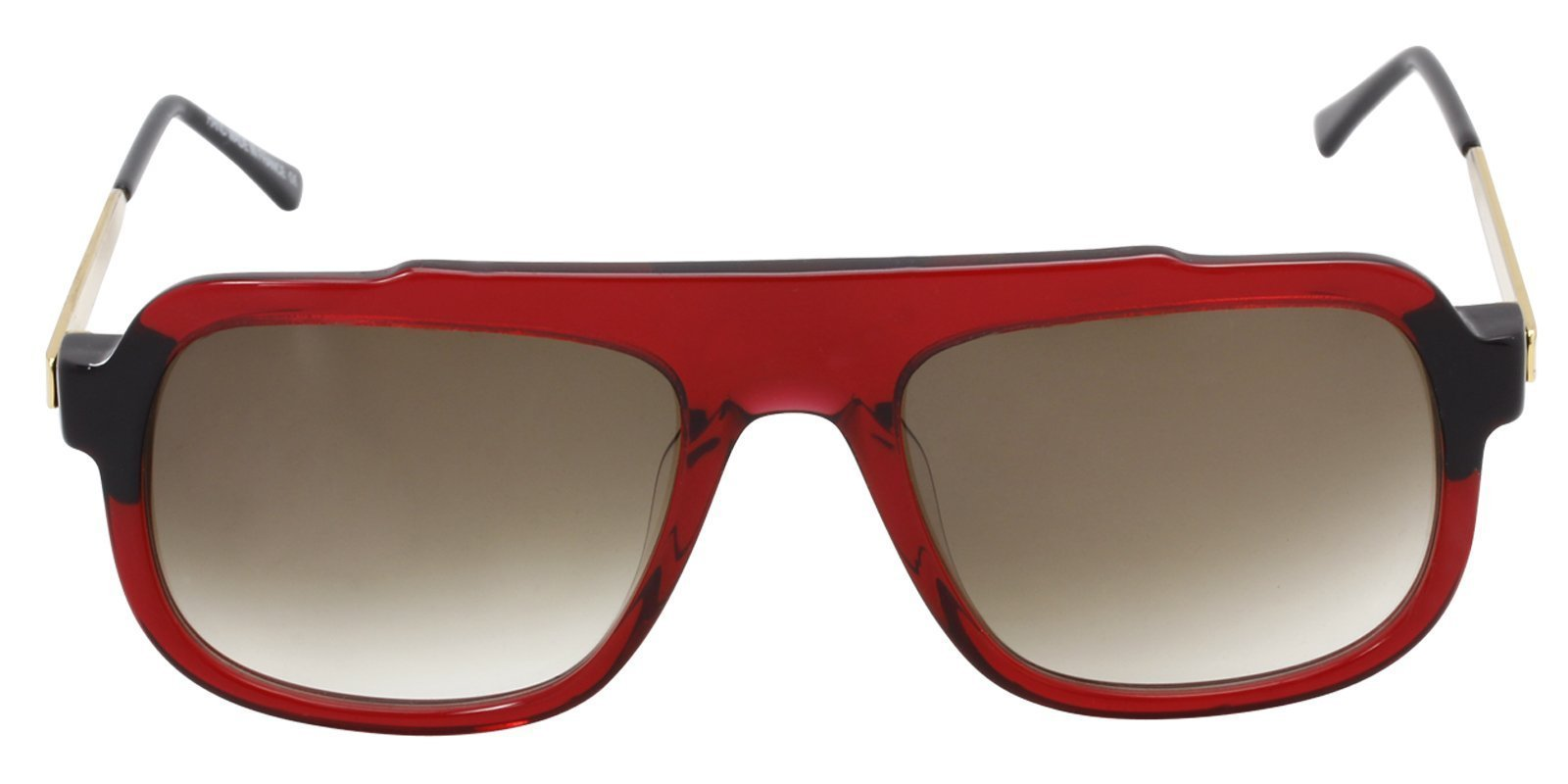 Thierry Lasry - Mastery Red Rectangular Men, Women Sunglasses - 57mm-Sunglasses-Designer Eyes