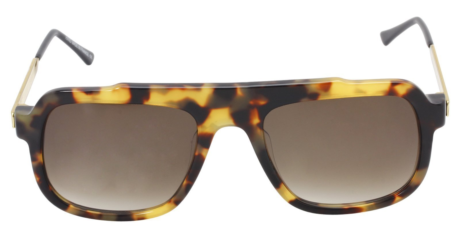 Thierry Lasry - Mastery Tortoise Rectangular Men, Women Sunglasses - 57mm-Sunglasses-Designer Eyes