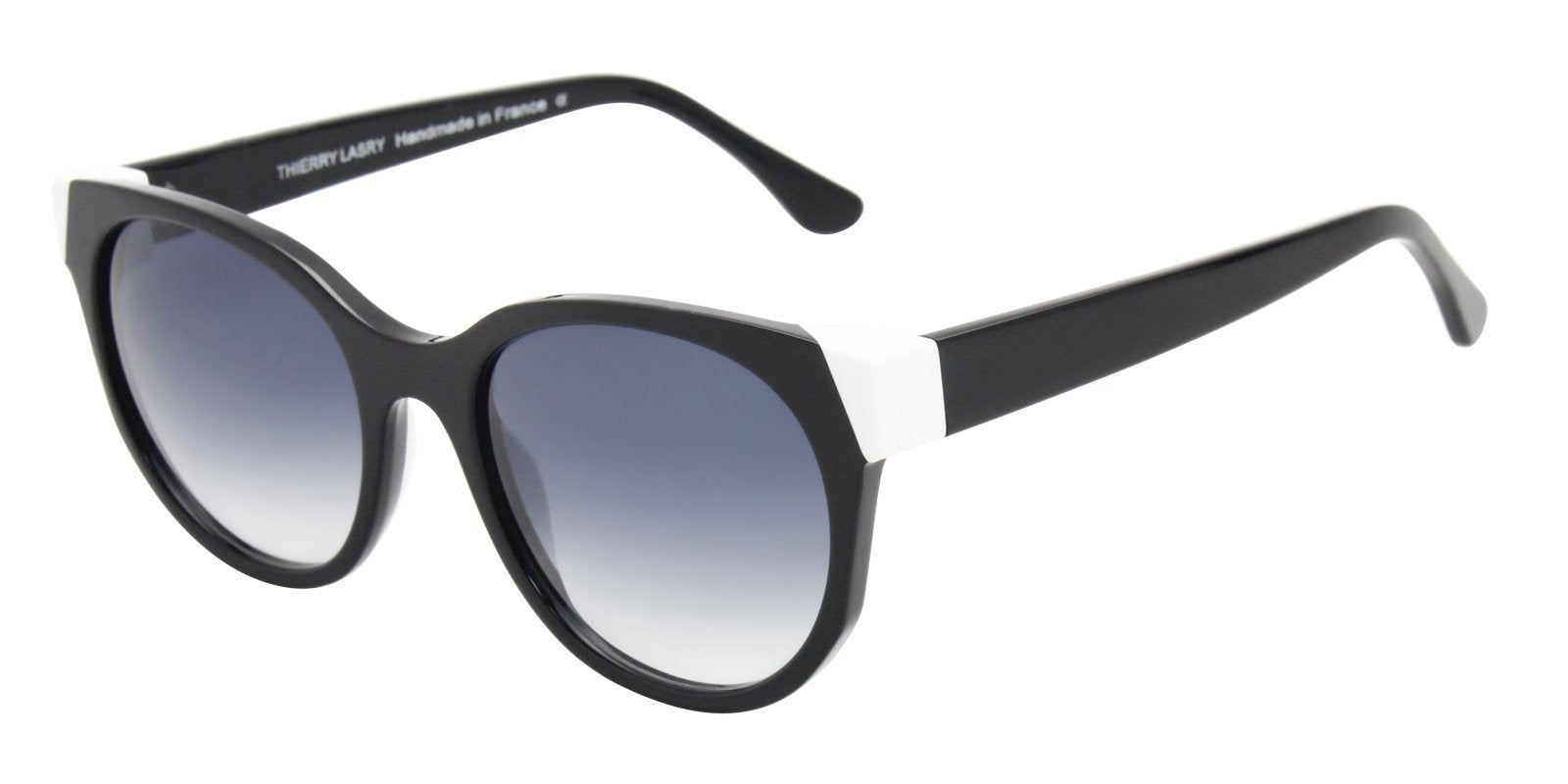 Thierry Lasry - Peroxxxy Black Oval Women Sunglasses - 57mm-Sunglasses-Designer Eyes