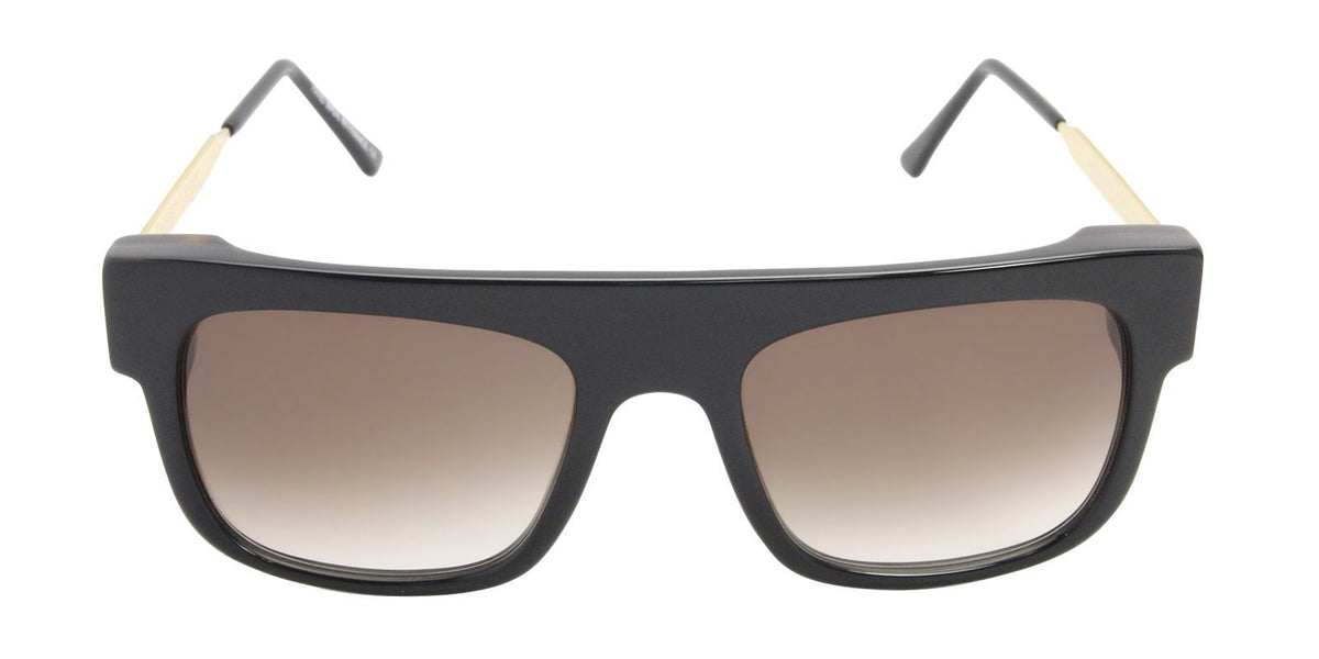 Thierry Lasry - Polarity Black Rectangular Men, Women Sunglasses - 55mm-Sunglasses-Designer Eyes