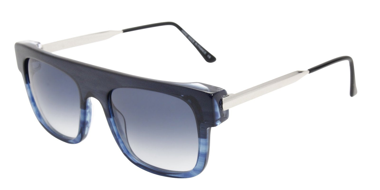 Thierry Lasry - Polarity Blue Rectangular Men, Women Sunglasses - 55mm-Sunglasses-Designer Eyes