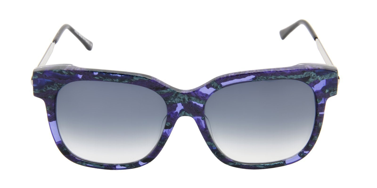 Thierry Lasry - Rapsody Blue Rectangular Women Sunglasses - 57mm-Sunglasses-Designer Eyes