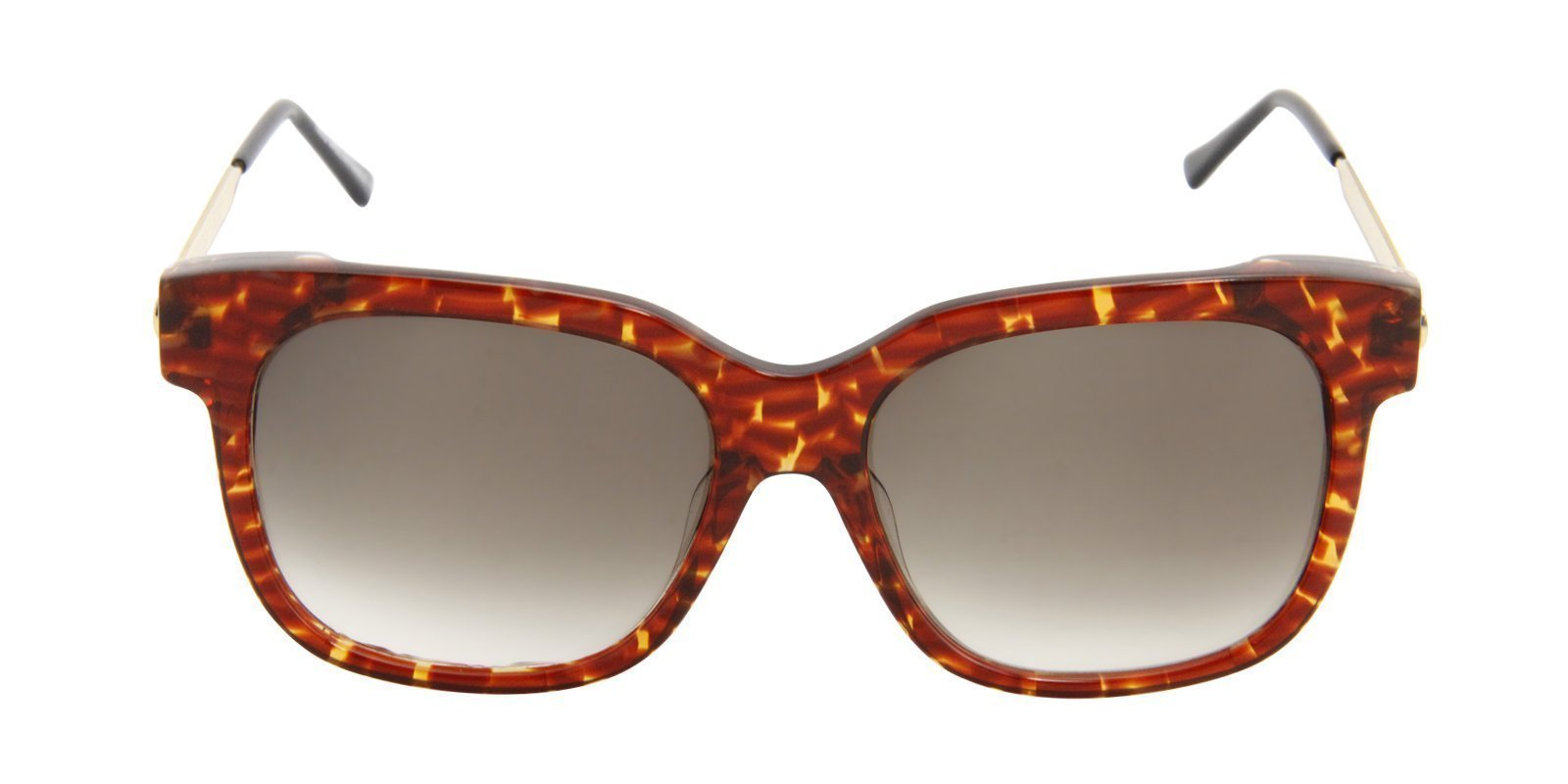 Thierry Lasry - Rapsody Tortoise Rectangular Men, Women Sunglasses - 57mm-Sunglasses-Designer Eyes