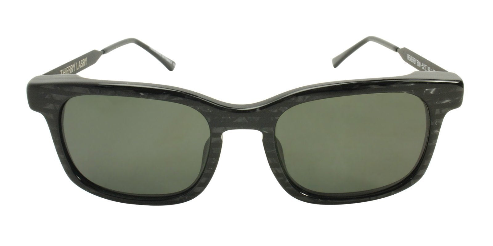 Thierry Lasry - Reversy Black Rectangular Men, Women Sunglasses - 52mm-Sunglasses-Designer Eyes
