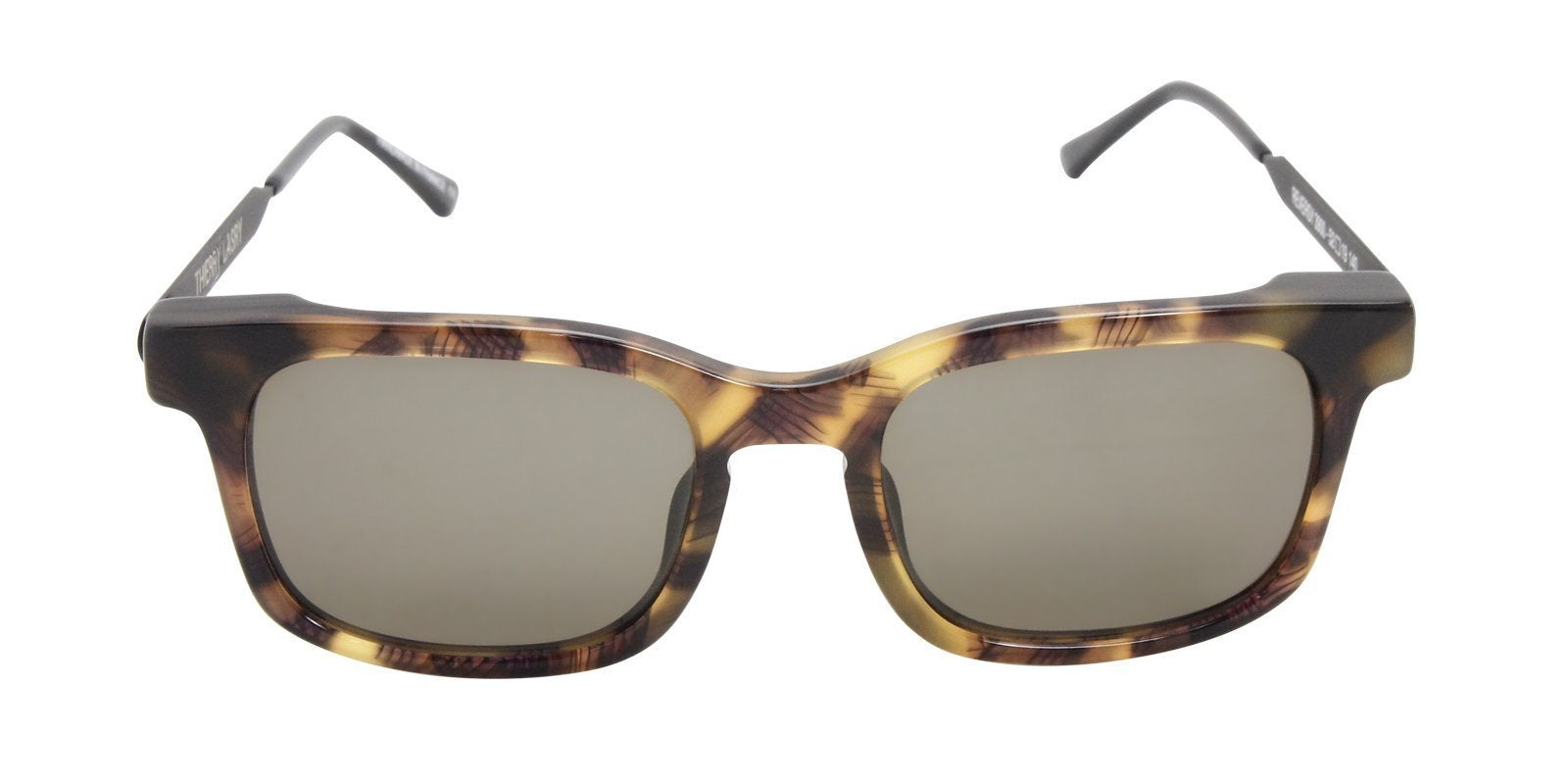 Thierry Lasry - Reversy Tortoise Rectangular Men, Women Sunglasses - 52mm-Sunglasses-Designer Eyes