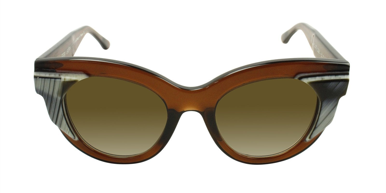 Thierry Lasry - Slutty Brown Oval Women Sunglasses - 52mm-Sunglasses-Designer Eyes
