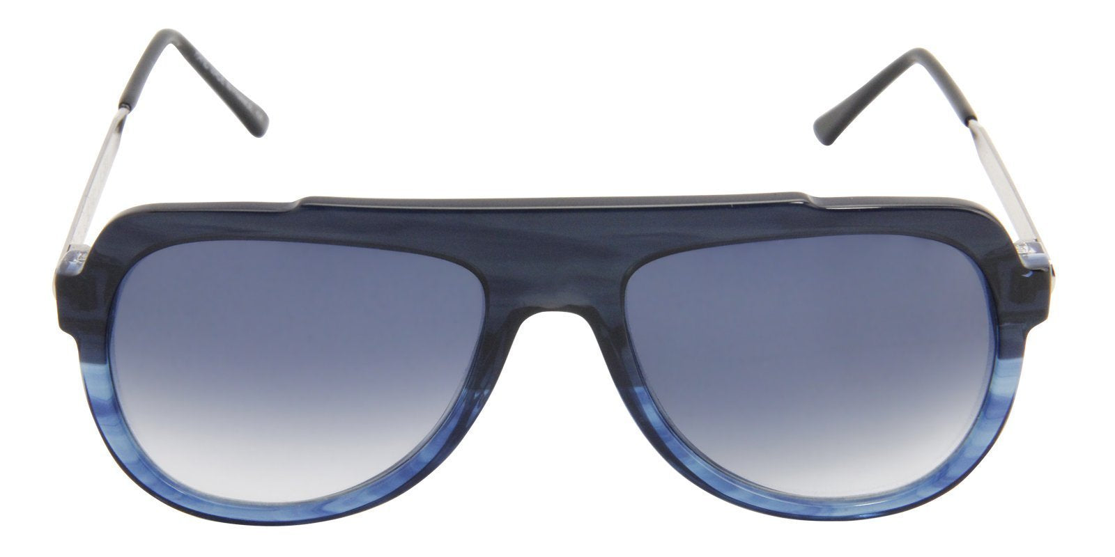 Thierry Lasry - Staminy Blue Aviator Men, Women Sunglasses - 58mm-Sunglasses-Designer Eyes