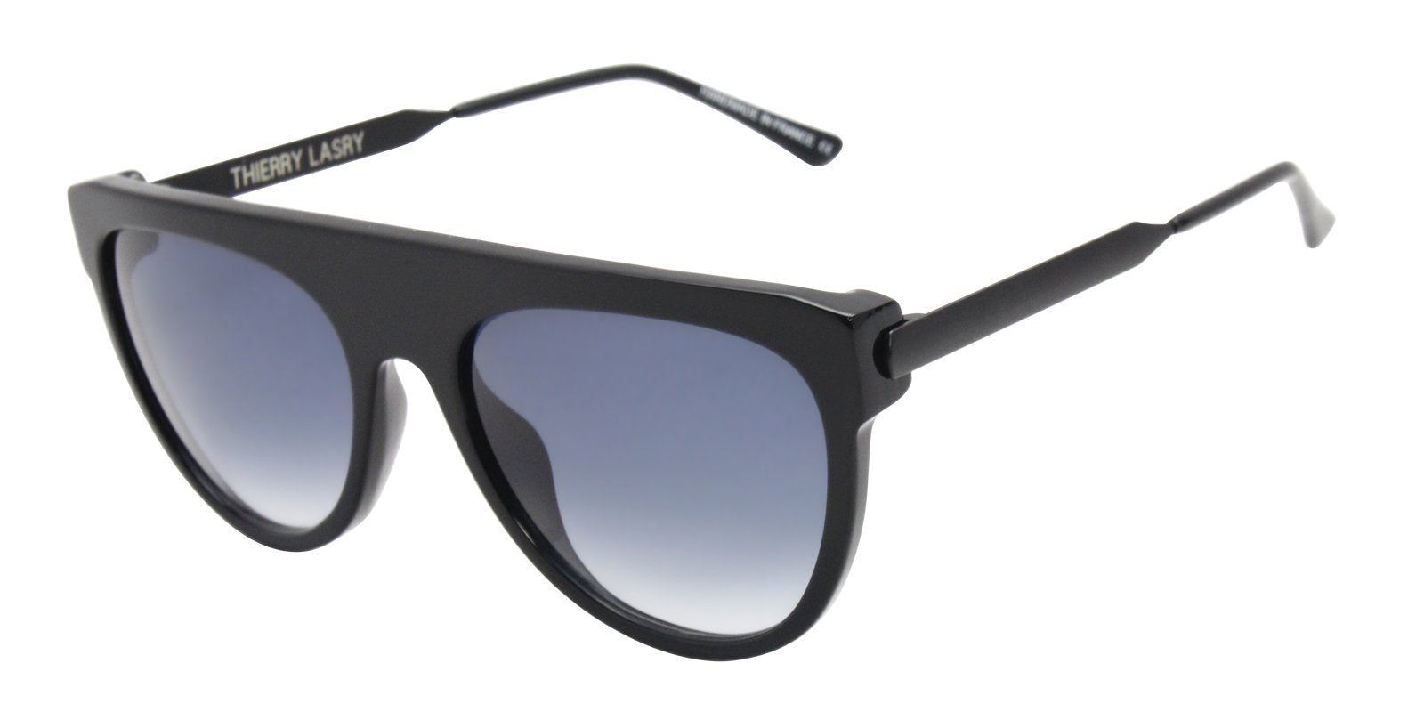 Thierry Lasry - Vandaly Black Oval Women Sunglasses - 57mm-Sunglasses-Designer Eyes