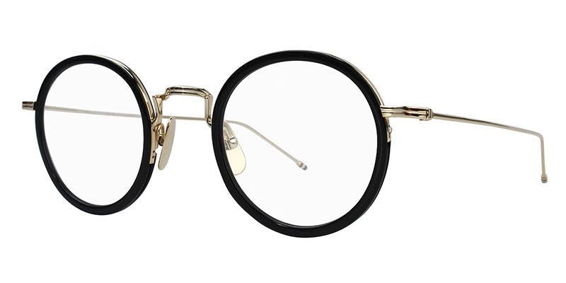 Thom Browne - TB-906 Black - White Gold-Eyeglasses-Designer Eyes