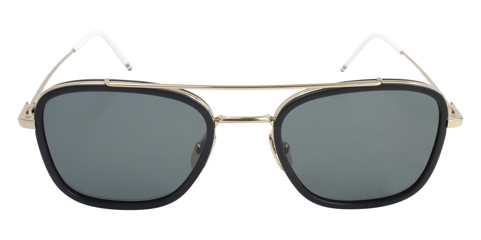 Thom Browne TB-800-A Black / Green Lens Sunglasses-Sunglasses-Designer Eyes