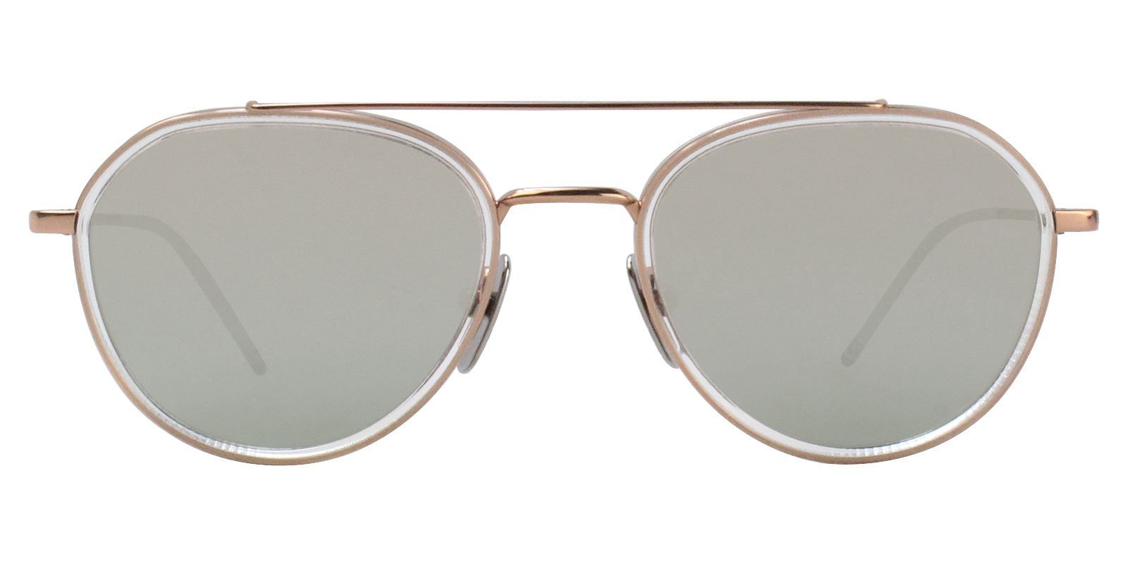 Thom Browne TB-801-G Rose Gold / Silver Lens Mirror Sunglasses-Sunglasses-Designer Eyes