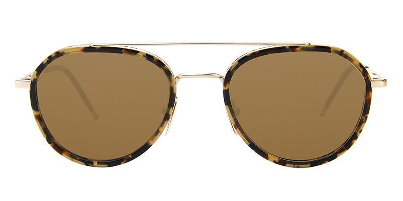 Thom Browne - TB-801-H Gold Tortoise - Brown-sunglasses-Designer Eyes