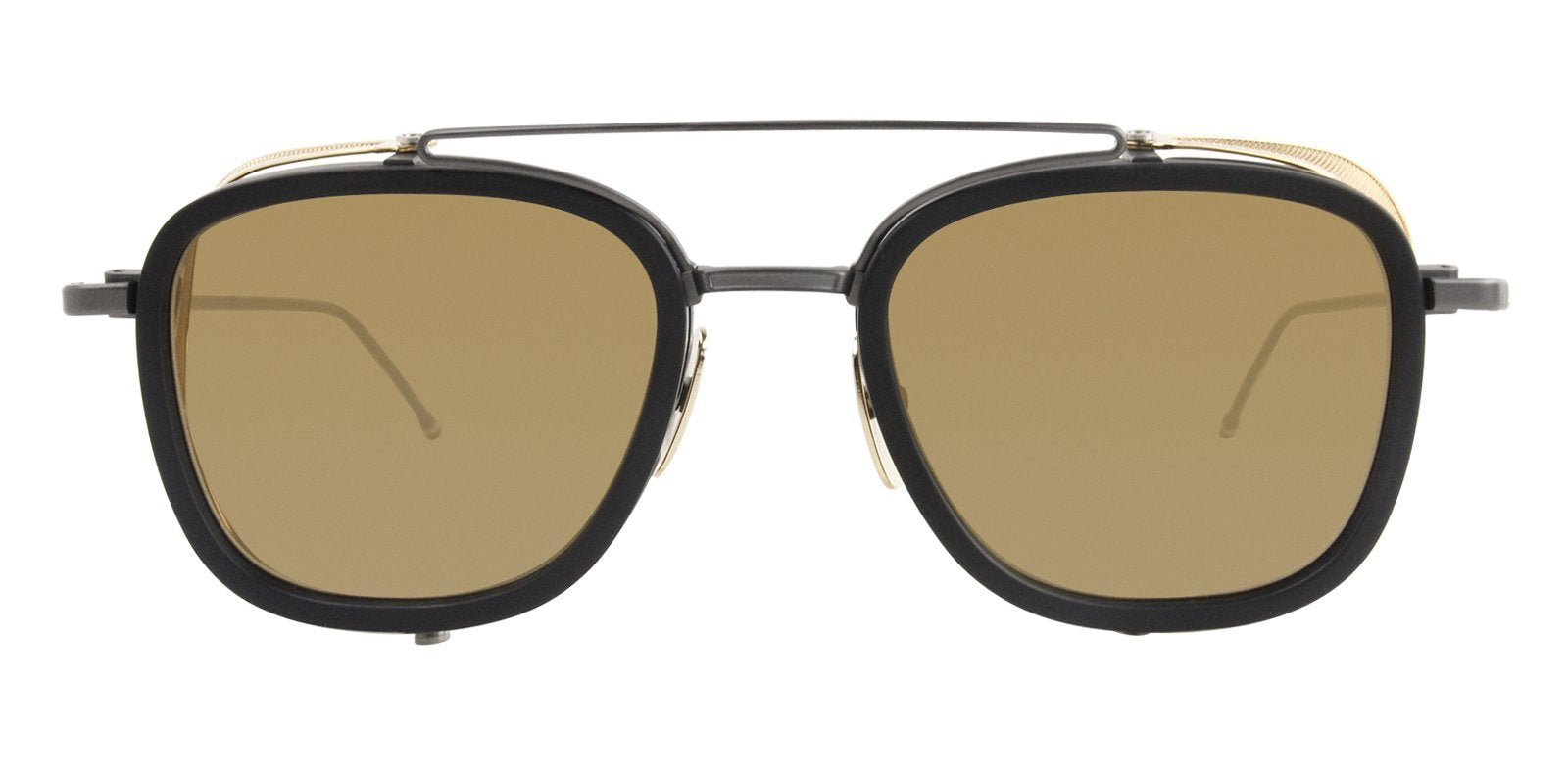 Thom Browne - TB-808 Matte Black - Black Iron - Gold Men Sunglasses - mm-Sunglasses-Designer Eyes