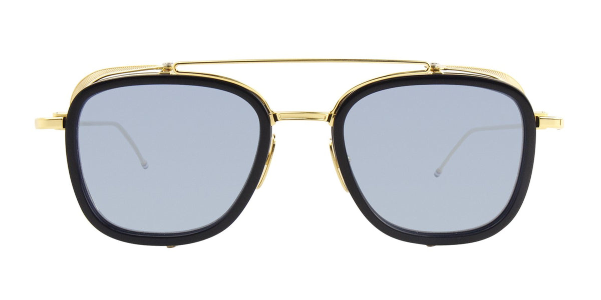 Thom Browne - TB-808 Navy - Yellow Gold Men Sunglasses - mm-Sunglasses-Designer Eyes