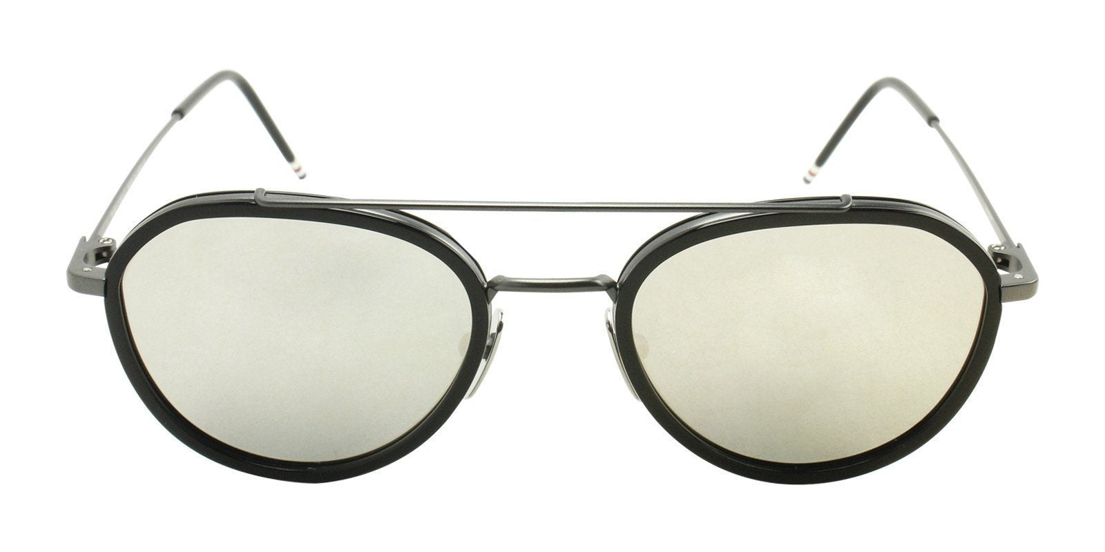 Thom Browne - TB801-F Black - Gray-sunglasses-Designer Eyes