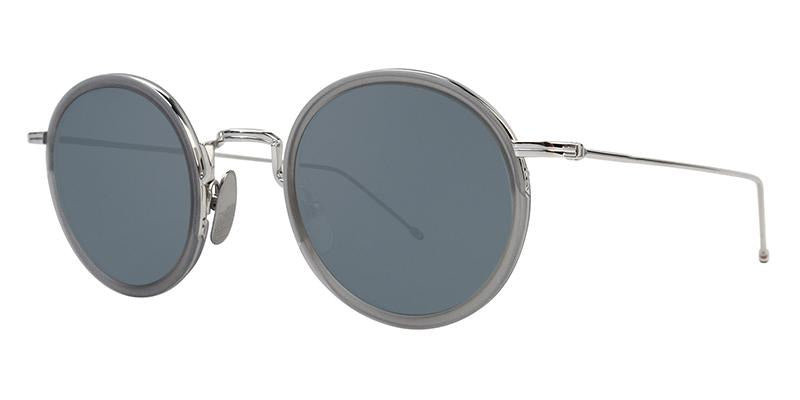 Thom Browne - TBS906-46-03 Silver Oval Unisex Sunglasses - 46mm-Sunglasses-Designer Eyes