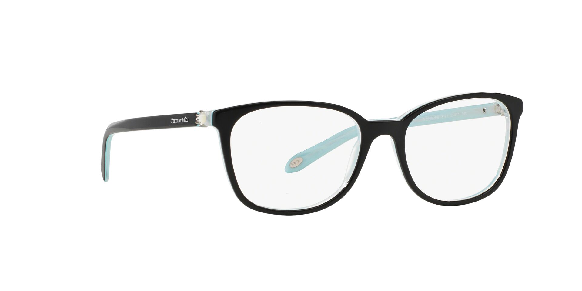 Tiffany - TF 2109HB Black Oval Women Eyeglasses - 53mm-Eyeglasses-Designer Eyes