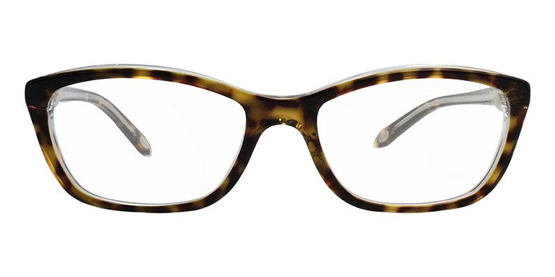 Tiffany - TF2074 Tortoise Cat-Eye Women Eyeglasses - 52mm-Eyeglasses-Designer Eyes