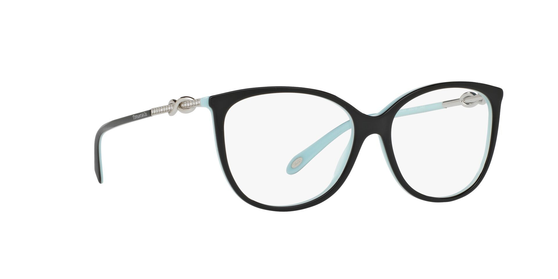 Tiffany - TF2143B Black Oval Women Eyeglasses - 53mm-Eyeglasses-Designer Eyes