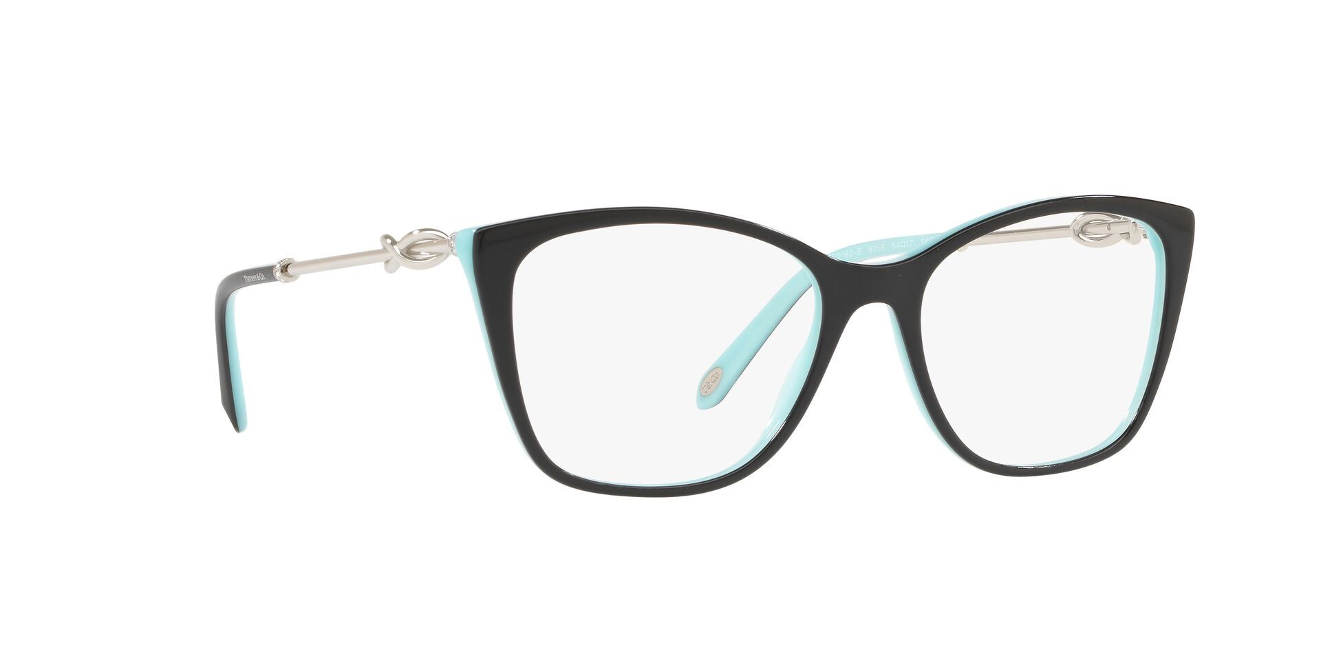 Tiffany - TF2160B Black Rectangular Women Eyeglasses - 54mm-Eyeglasses-Designer Eyes