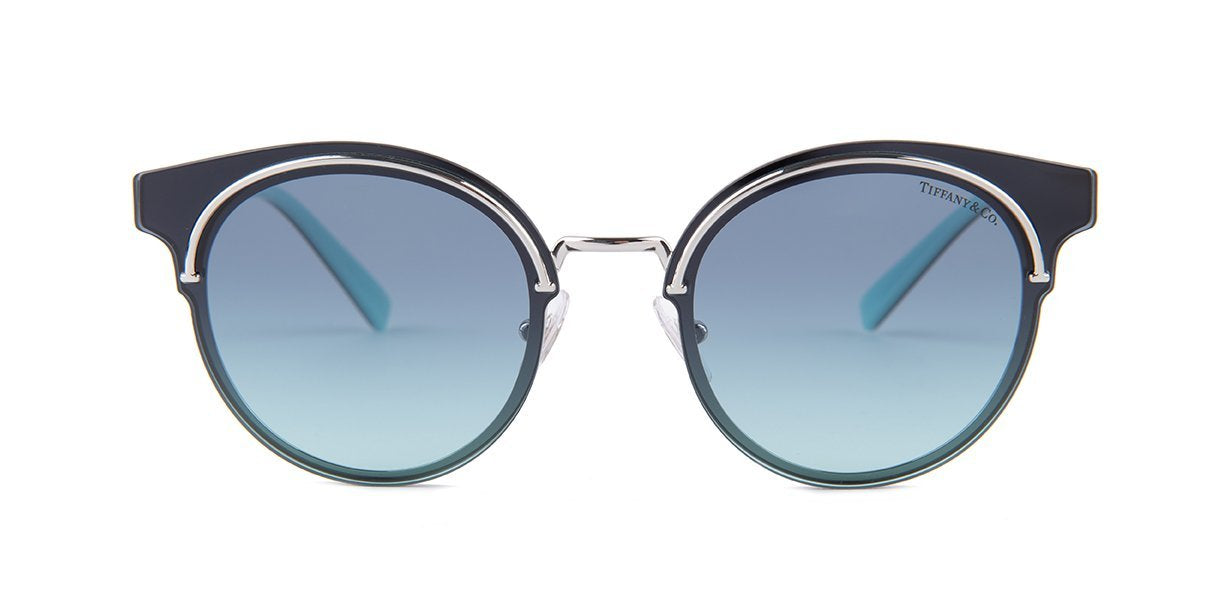 Tiffany TF3061 Silver / Blue Lens Sunglasses-Sunglasses-Designer Eyes